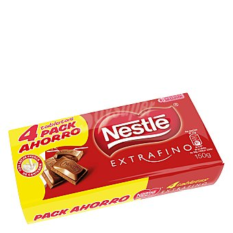 Nestlé Tabletas chocolate extrafino Pack 4x150 g