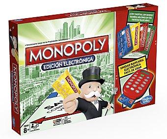 MONOPOLY Juego de Mesa Monopoly Electrónico, de 2 a 4 Jugadores, Incluye unidad electrónica y 4 tarjetas 1 Unidad