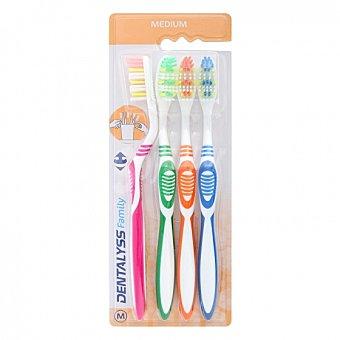 Carrefour Cepillo dental medio 4 ud 4 ud