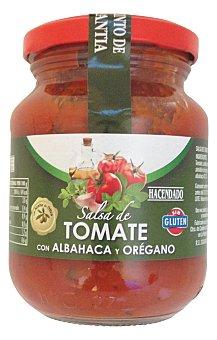 Hacendado Salsa tomate albahaca y oregano Tarro 300 g