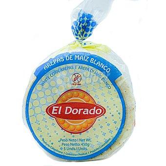 El Dorado Arepa de maíz blanco sin gluten 5 ud