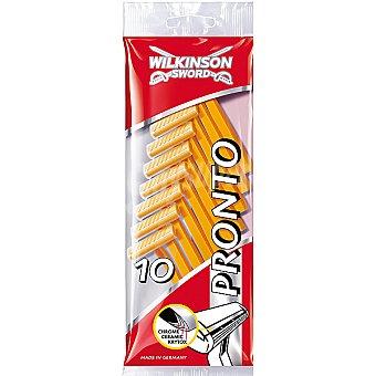 Wilkinson Maquinilla de afeitar desechable Pronto Bolsa 10 unidades