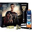 Pack Liga de la Justicia Superman con maquinilla + 3 recambios + gel de afeitar Sensitive  estuche 1 unidad Gillette Fusion Proglide