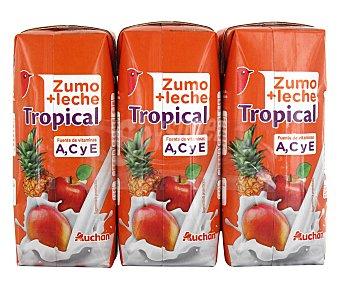 Auchan Zumo con frutas tropical 3 uds