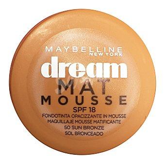 Maybelline Base de maquillaje DreamMat Mousse 50 Bronceado 1 ud
