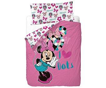 Minnie Disney Funda nórdica y funda de almohada 50% algodón para cama de 90 centímetros, diseño Minnie DISNEY.