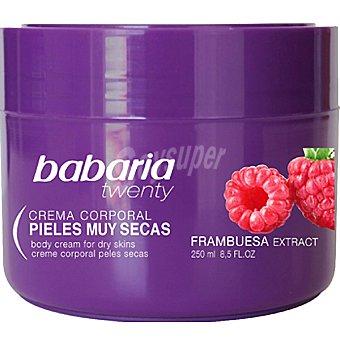 BABARIA Twenty Crema corporal piel muy seca con extracto de Frambuesa tarro 250 ml Tarro 250 ml