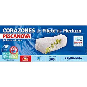 Pescanova Corazones de filete de merluza Estuche 500 g neto escurrido