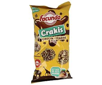 Facundo Snack de bolas de maíz recubiertas de chocolate crujiente Crakis Bolsa 85 g
