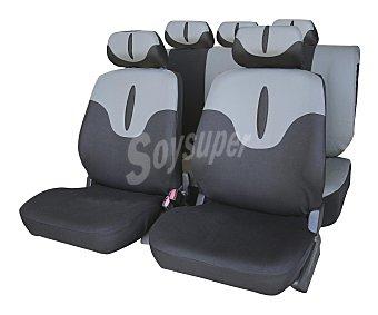 Erma Juego de fundas para asientos de automóvil de talla única y fabricadas en poliester de color negro y gris CAR factory Jerez