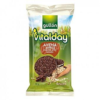 Gullón Tortitas de avena y arroz con chocolate negro Vitalday 82 G 82 g