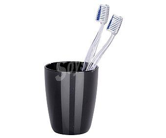 Wenko Vaso porta cepillos de plástico negro de alta calidad y con medidas de 10x8 centímetros (alto x Diámetro) Cocktail.*