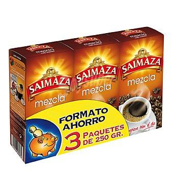 Saimaza Cafe molido mezcla Pack de 3x250 g