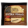 Base pizza congelada extra fina Paquete 3 unidades 420 gr Preli