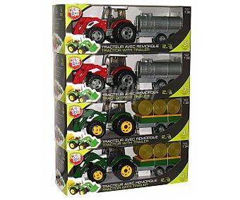 Rik&Rok Auchan Tractor con remolque, carga y pala escala 1:32 ROK
