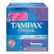 Tampón Compak Lites 20 ud Tampax