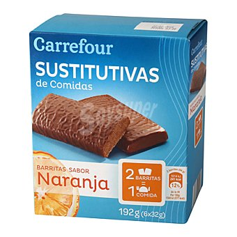 Carrefour Barritas sustitutivas sabor naranja 210 g
