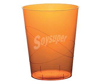 Nv corporacion Vasos desechables de plástico color naranja, 0,30 litros de capacidad 6 unidades