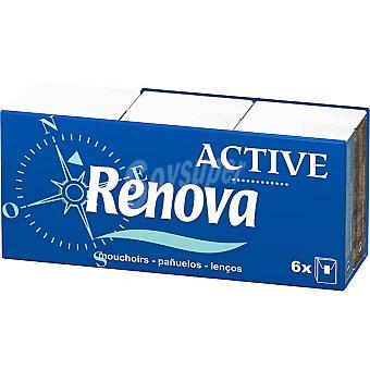RENOVA Pañuelos Active Compacto  6 paquetes