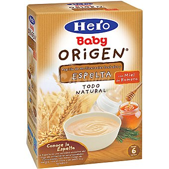 Hero Baby Papilla de multicereales tostados y espelta con miel de romero todo natural Origen Envase 500 g