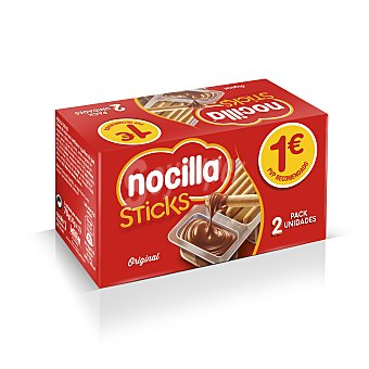 Nocilla Nocisticks sticks de pan para mojar en chocolate  Pack 2 u x 35 g