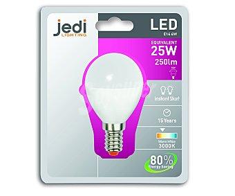 JEDI Bombilla led esférica estándar, casillo E14 (fino), 25 Wattios, luz cálida 1 Unidad