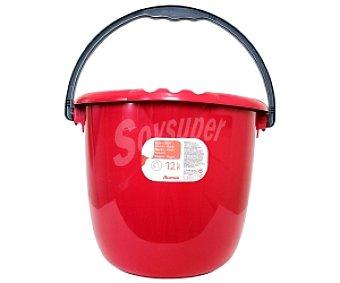 Auchan Cubo de agua redondo Rojo 12 Litros 1 Unidad