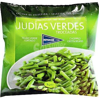 Hipercor judías verdes redondas troceadas bolsa 1 kg