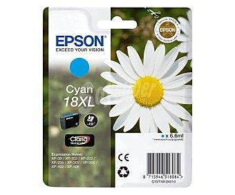Epson Cartucho de tinta 18XL, Cian, compatible con impresoras: XP-30, XP-102, XP-202, XP-205, XP-302, XP-305, XP-402, XP-405