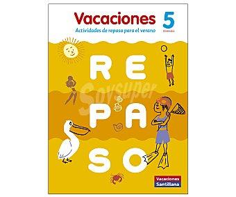 Santillana Cuaderno de vacaciones Repaso 5º Primaria, actividades Santillana. Editorial Santillana. Descuento ya incluido en PVP. PVP anterior: 5º