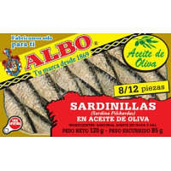 Albo Sardinilla en aceite de oliva lata 125 g
