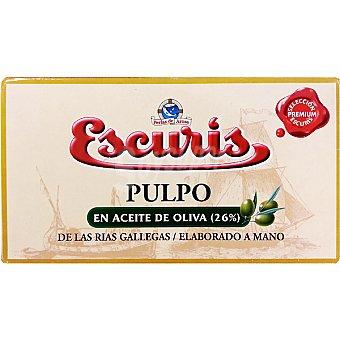 ESCURIS Pulpo en aceite de oliva de las rías gallegas elaborado a mano Lata 81 g
