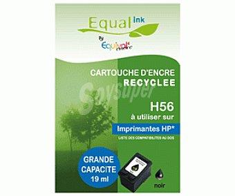 Equalink Cartuchos Reciclados de Tinta H56 Negro 1u