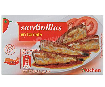 Auchan Sardinillas Con Tomate 65 Gramos