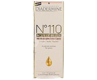 Diadermine Aceite corporal nº 110 de alta eficacia para cara y cuerpo (suaviza, nutre y repara) 100 mililitros