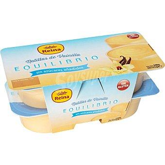 Postres Reina Equilibrio, natillas de vainilla sin azúcar Pack 4 unidades 125 g