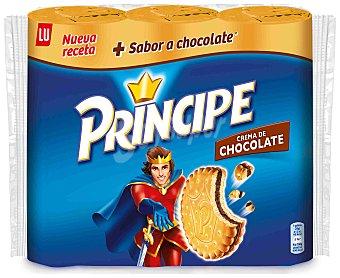 LU PRINCIPE Galletas rellenas de chocolate Lu pack 3 paquetes 300 g