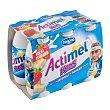Yogur Liquido Lactocasei Imunitass con Sabor a Fresa y Plátano 6 unidades de 100 g Actimel Danone
