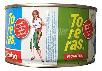 Kimbo Banderillas toreras picantes (con aceite de oliva y anchoa natural) Tarro de 120 g Peso escurrido