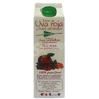 El Corte Inglés Zumo de uva roja fresa frambuesa y manzana Envase 1 l
