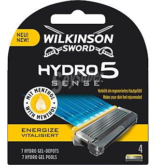 Wilkinson Cargador hydro 5 sense 4 unidades