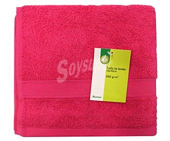 Productos Económicos Alcampo Toalla de lavabo 100% algodón, 400g/m², color rosa fucsia, 50x90 centímetros 1 Unidad