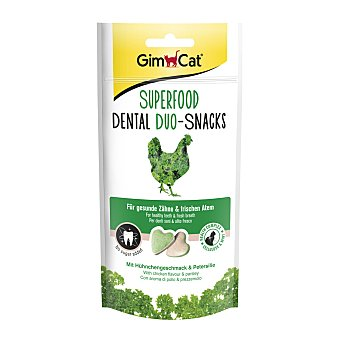 GimCat Snack para gatos adultos Super Food Dental Duo pollo Paquete 40 g