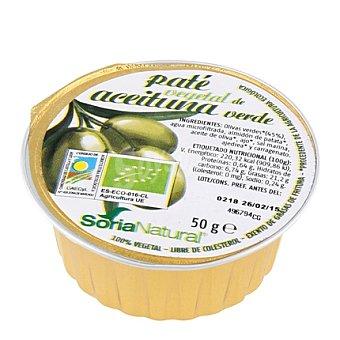 Soria Natural Paté Vegetal Aceitunas Verdes 50 g