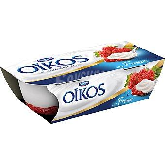 DANONE OIKOS Yogur griego con fresas pack 2 unidades 115 g