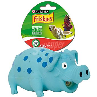 Friskies Purina Juguete Play Toy para perro adulto 10-25 kg con sonido modelo cerdo 1 unidad 1 unidad