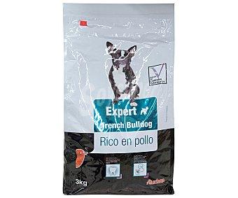 Auchan Expert Pienso para perros raza bulldog francés, rico en pollo Expert 3 kg