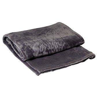 Casactual Flannel plaid liso en color gris 280 gr