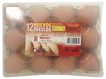 Huevo mediano m 12 u