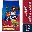 Pienso para perros adultos Delicious Buey Bolsa 12 kg Brekkies Affinity